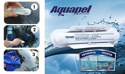 AQUAPEL Windshield Glass Water Rain Repellent Blue Soft Absorbent Wash Cloth Car