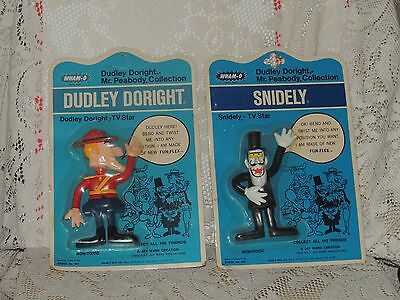 Dudley Doright and Snidely Lot of 2 from Peabody Collection - Wham-O (1972) WH