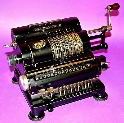 1924 Rare Facit Standard Antique Vintage Mechanical Calculator Arithmometer Work