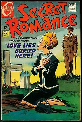 Secret Romance #1 1968-Charlton- Morbid Grave cover- Swim suits FN