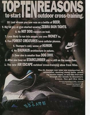 For Nike Air Shoes Print Ad-Top 10 Reasons To Start Outdoor Cross-Training