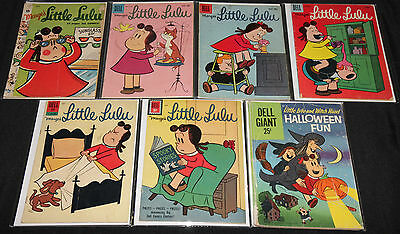 Dell Silver Age MARGE'S LITTLE LULU 7pc Count Low-Mid Grade Comic Lot VG