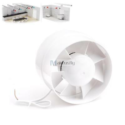 """6"""" Inline Duct Booster Fan Cooling Exhaust Blower Air Cooling Vent Fan ABS MY"""