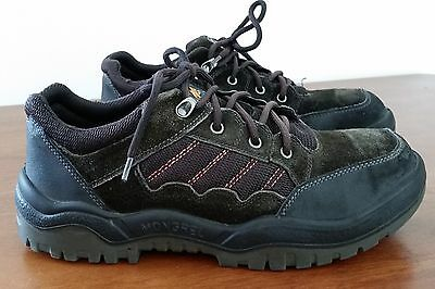 Mens Mongrel Australian Made BLACK Steel Cap Lace Up Work Tradie Shoes size 10