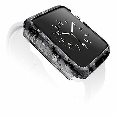 DIGITAL GREY CAMO Cover Protector Case Bumper Skin For 42MM APPLE WATCH iWatch 1