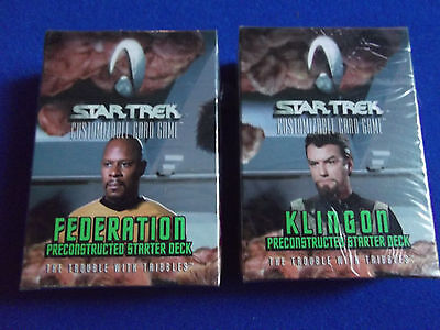 x2 Trouble with Tribbles Sealed Starter Decks Star Trek CCG card game Fed Kling