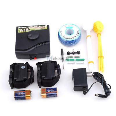 In-Ground Electric Dog Fence 2 Wireless Shock Collar Waterproof Hidden System