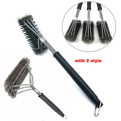 "18"" Barbecue BBQ Cleaning Grill Brush Cleaner Stainless Steel Kitchen Wire Brush"