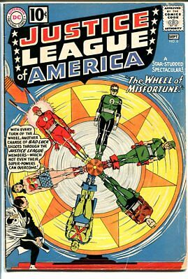 JUSTICE LEAGUE OF AMERICA #6-1st AMOS FORTUNE-WILD COVE G