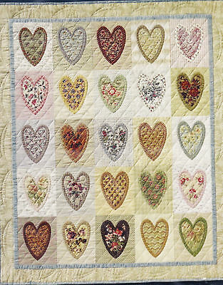 Layered Hearts - pretty applique PATTERN for 2 quilts - City Stitcher
