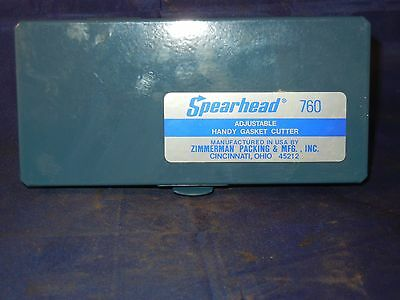 New Spearhead 760 Adjustable Handy Gasket Cutter A-18 USA Metal Case