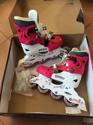 BladeX Slider Girls Roller Blades - Size UK1-4 Adjustable