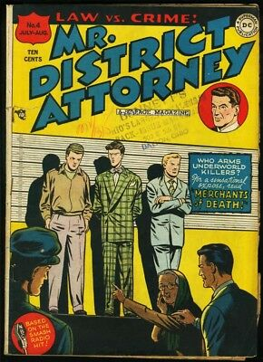 Mr. District Attorney #4-Dc-Golden Age Crime Vg
