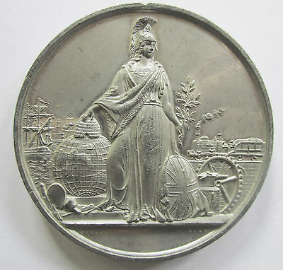 Zinn Medaille London 1851, Industrieausstellung aller Nationen, Ottley