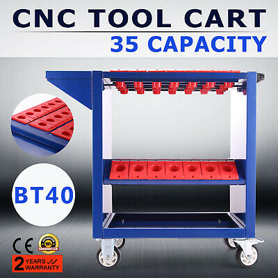BT40 CNC Tool Trolley Cart Holders Toolscoot Tool Box Workstation 35 Capacity