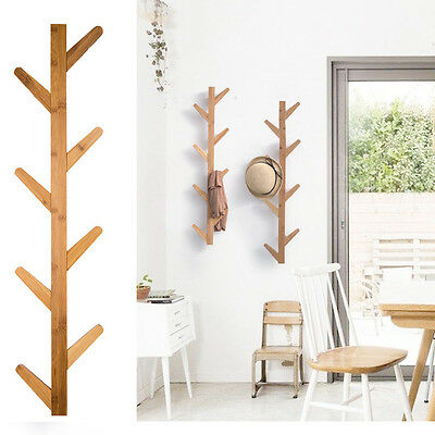 Wall Hanger Hat Coat Clothes Stand Rack BROWN Tree Branch Style Modern