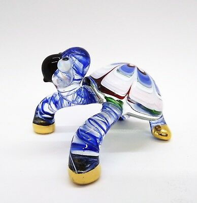 TURTLE Color Hand Blown Blowing Glass Art Animal Cute Fancy Collectibles Decor