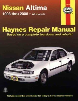 Nissan Altima Automotive Repair Manual 93-06 by H72015 9781563927225