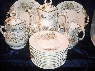 Antique Aesthetic Victorian Lg.China tea and plate set,