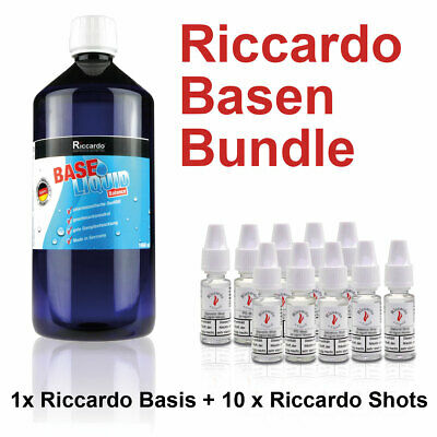(24,95€/1L) Riccardo Nikotin Basis Balance Bundle 1000ml 2mg Base Shots e Liquid