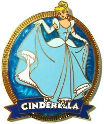 Disney Cinderella Princess Premiere Blue Swirl pin