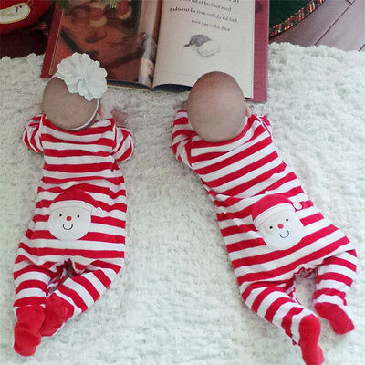 Newborn kids Baby Girl Christmas Gift Romper Jumpsuit Bodysuit Clothes Outfit