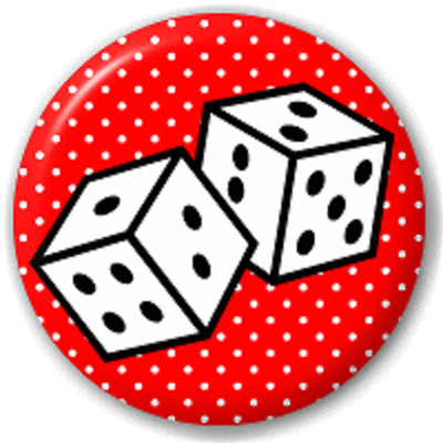 Lucky Dice – 25 Mm Pin Button Badge
