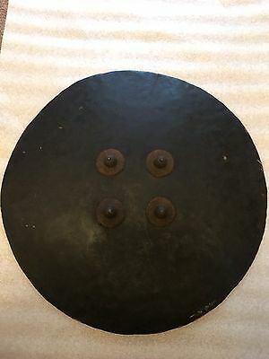 Massive Indian Hide Dhal, Shield, Indo Persian, No Tulwar Shastar
