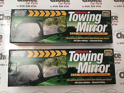 Maypole Caravan Mirrors Pair TWIN Glass Extension Towing Mirrors 8322 Convex Car