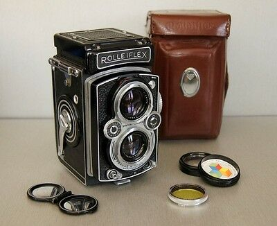 Rolleiflex TLR film camera and extras
