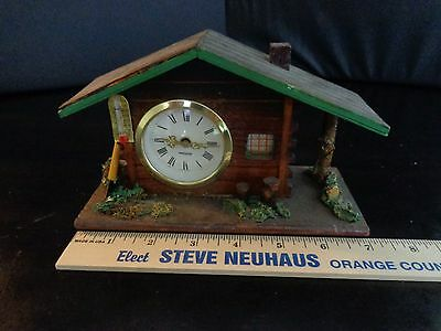 Vintage Mercedes Wood Cutters Shed Lodge Cabin Clock