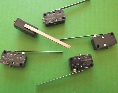 Microswitch Long Lever 10A Micro Switch C/O SPDT 250 Vac V3 2TMGT18-1A x 5pcs