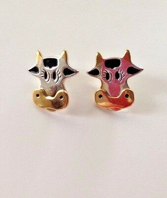 """Cow Earrings 0.75"""" L Hypoallergenic Posts Nickel and lead free Jewelry Animals"""