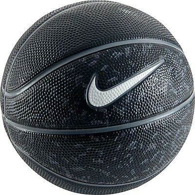 NEW Nike Swoosh Mini Basketball - - Outdoor Ball - Black/Grey/White Mini Size 3