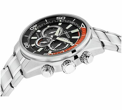 Citizen Men Eco-Drive Black And Orange Chronograph Watch