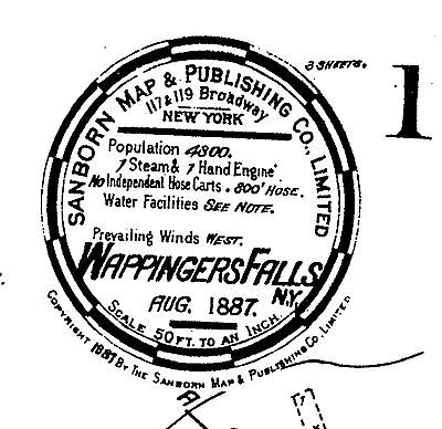 Wappingers Falls, New York~Sanborn Map© sheets ~12 maps on a CD 1887 to 1897