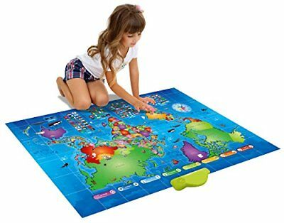 Push-To-Talk Kids World Map Learn Over 1000 Facts & Quizzes About 92 Countries