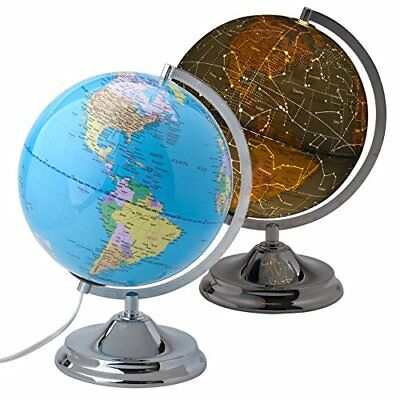 """10"""" Educational World Globe for Kids with LED Light and Stand Shows Detailed Map"""
