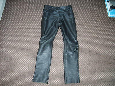 "Classic Men's Casual Leather Trousers used 30"" waist about 31"" inside leg"