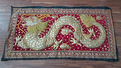 Beautiful Thai Dragon Embroidered wall Tapesty 1600 x 850mm