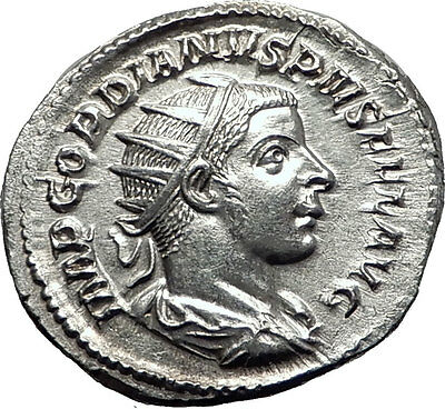 GORDIAN III 241AD Rome Authentic Ancient Silver Roman Coin JUPITER / ZEUS i63297