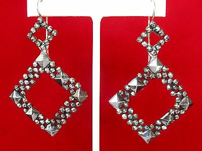 Pair of Art-Deco Cut-Steel Earrings
