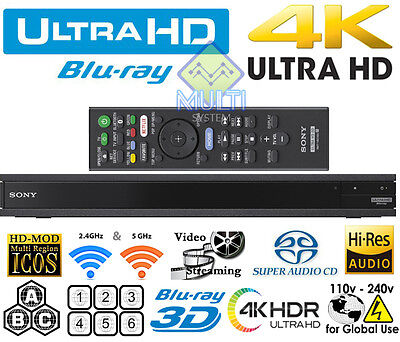 NEW 2017 UHD Sony UBP-X800 4k All Region Free DVD and Zone ABC Blu Ray Player