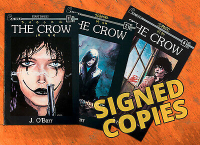 The CROW # 1, 2, 4 all SIGNED by J. O'Barr! (Caliber Press 1989) FIRST PRINT HTF