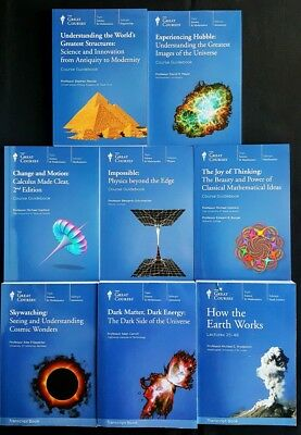 Lot Of 8 Great Courses Science Math Books Physics Calculus Earth Hubble Cosmic