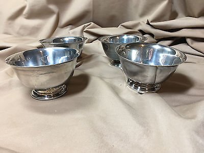 Reed and Barton Silver Plated Desert Bowls Set of Four - Paul Revere Design