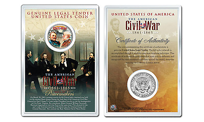 American CIVIL WAR - 150th Anniversary JFK Half Dollar US Coin with 4x6 Display