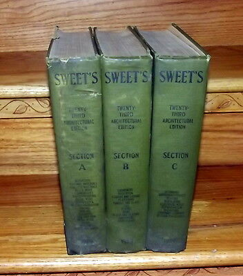 SWEET'S ARCHITECTURAL CATALOG, Twenty-Third Annual Edition 1929 FULL SET