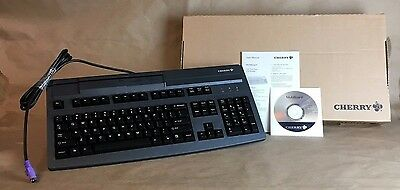 Cherry Programmable Keyboard POS w/ Built In Credit Card Reader G81-8000LPDUS-2