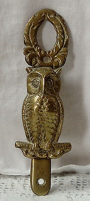 Victorian Solid Brass Owl Door-Knocker In Excellent Condition